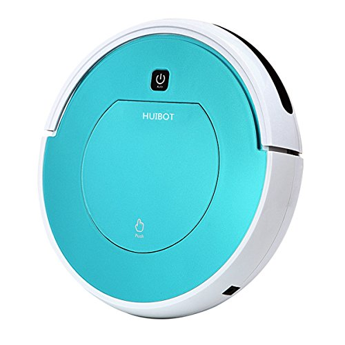 Huibot 80C Robot Vacuum With Large Dustbox Strong Suction For Pet Fur  Designed For Hardwood And Low Pile Carpet  Bule