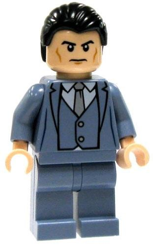 LEGO DC Universe LOOSE Mini Figure Bruce Wayne in Gray 3 Piece Suit (Lego Suit)