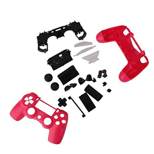 【ノーブランド品】PS4用 コントローラ カバー ケース 交換用 パーツセット シェルケース (ピンク)
