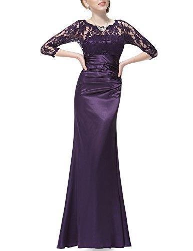 para mujer Morado HE09882SB14 Vestido Oscuro Pretty Ever qTw1FActq