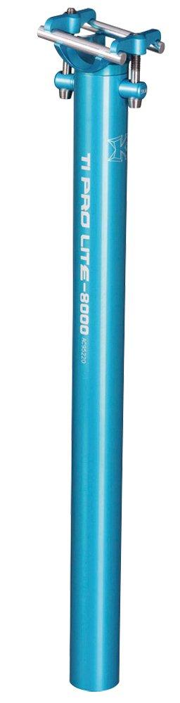 KCNC 自転車 軽量 シートピラー シートポスト TIプロライト 400MM B00HBYKE8G ピラー外径34.9mm|ブルー ブルー ピラー外径34.9mm