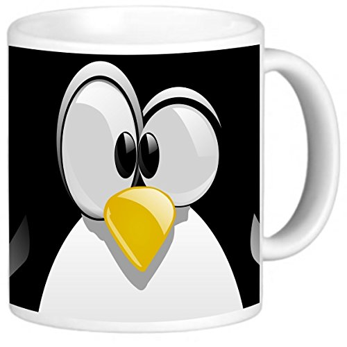 Rikki Knight Photo Quality Ceramic Coffee Mug, 11 oz, Penguin Cartoon Face from Rikki Knight