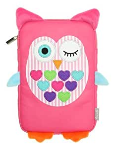 My Doodles Fun Novelty Children's Character Universal Case Cover Sleeve Pouch with Zip Compatible with 7 Inch Tablets Including iPad Mini 1/2/3, Google Nexus 7, Samsung Galaxy Tab 2/3/4 (7.0 Inch) and Kindle Fire HD/HDX (7 Inch) - Owl by My Doodles