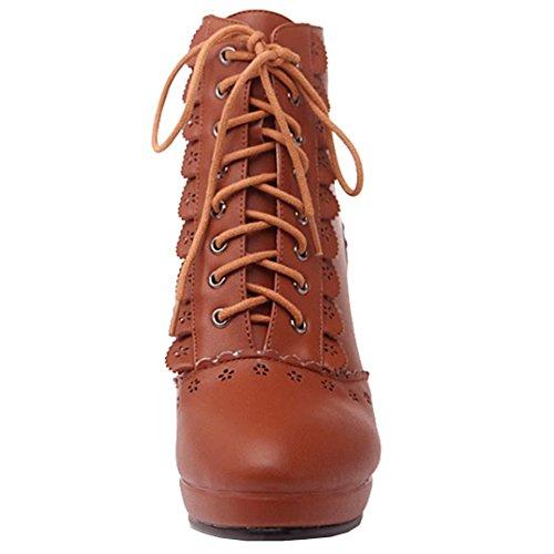 AIYOUMEI Women's Classic Boot Brown DRTPJU