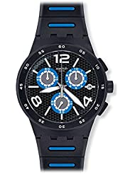 [Swatch] Swatch watch New Chrono Plastic (New Chrono plastic) BLACK SPY (black spy) Mens SUSB410 [regular imported...
