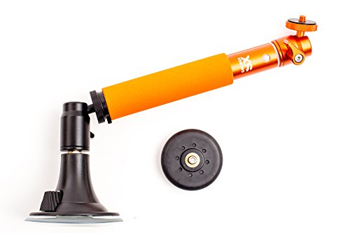 XSories Fix/Tilt & Shoot Camera Mount System, Magnet and Suction Mounts, Detachable Angle Adjuster, Telescopic Pole, Fits All Nikon, Canon, Digital Cameras, Camera Mounts, Camera Accessories (Orange) by XSories