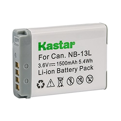 Kastar Lithium Ion Battery NB13L Replacement for Canon NB-13L Battery and Canon PowerShot SX730 HS, SX740 HS, SX720 HS, SX620 HS, G5X, G7X, G9X, G1 X Mark III Digital Camera