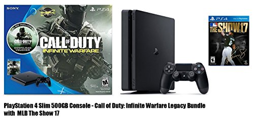 Playstation 4 Slim 500Gb Console   Call Of Duty  Infinite Warfare Legacy Bundle With Mlb The Show 17