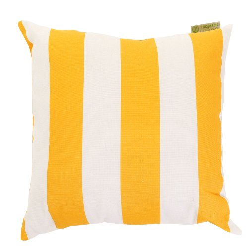 Majestic Home Goods Pillow, X-Large, Vertical Stripe, Yellow