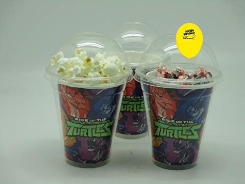 Set of 8 - TMNT Party Cups, Popcorn Cups, Goody Bags, Favor -
