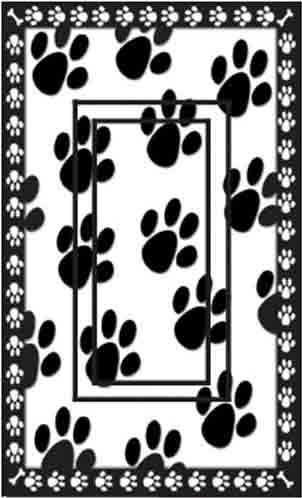SwitchStix Dog Paw Prints Single Rocker Peel and Stick Switch Plate Cover Décor