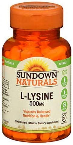 Sundown L-Lysine 500 mg Tablets 100 Tablets Pack of 3