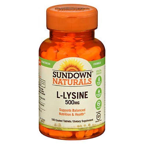 Sundown L-Lysine 500 mg Tablets 100 Tablets (Pack of 3) by Sundown