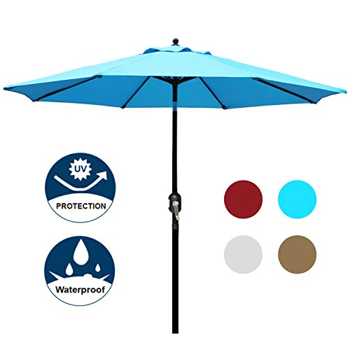 Light Blue Garden Parasol
