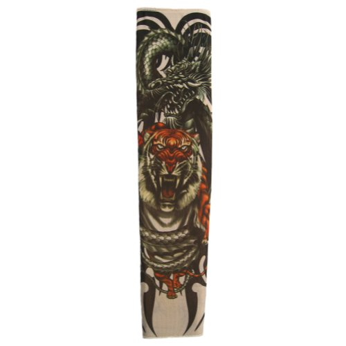 Tattoo Sleeve (Fierce Dragon & Tiger) ~ Party & Halloween Accessory