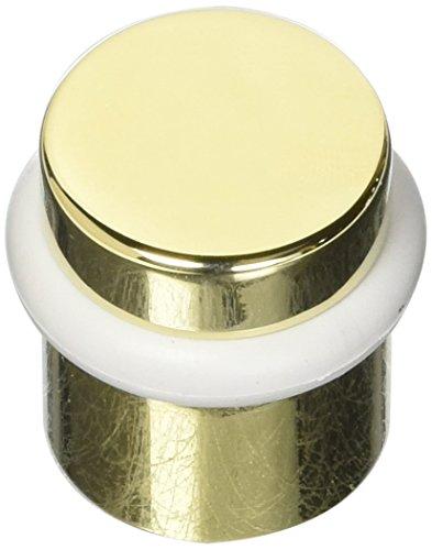 (Baldwin 4505003 Universal Floor Bumper Door Stop, Lifetime Polished Brass)