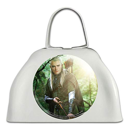 The Lord of the Rings Legolas Character White Metal Cowbell Cow Bell Instrument (Lord Of The Rings In Concert Usa)