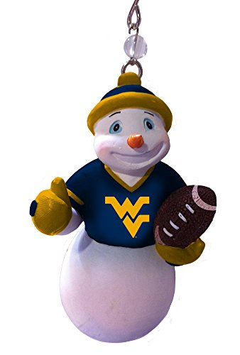 Frost Snowman - Team Sports America Polystone West Virginia Mountaineer Jock Frost Snowman Ornament