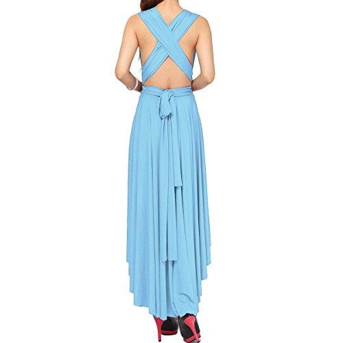 Piso Hi Claro XL Transformer Cóctel lo Fiesta de Way XS Azul Mujer Maxi Vestido de Vestidos Dresses Mangas Hi de de Honor Sin Infinity lo Dama Largo de Multi Longitud HT4wypWwq