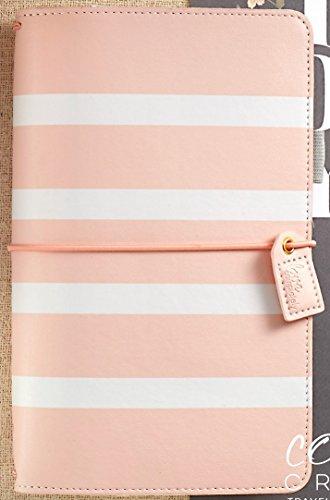 Webster's Pages Blush Stripe Travelers Planner (TJ001-BS)