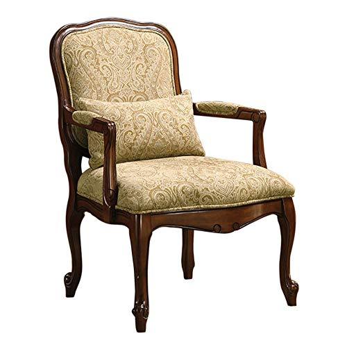 William s Home Furnishing CM-AC6980 Waterville Arm Chair, Beige Dark Cherry