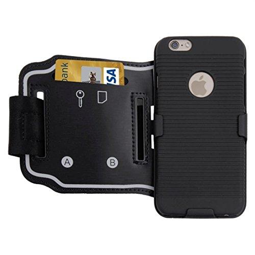 Phone case & Hülle Für IPhone 6 / 6s, Sport Armband Fall-harte rückseitige Abdeckung mit rückseitiger Schiene u. Schlüssel-Beutel / ändern Sie Taschen- / Kartenschlitze
