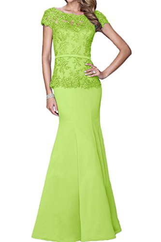 Bride Avril Beaded Evening Lawn Appliques Dress of Green Sleeve Mother Short Mermaid Dress qrf8pq