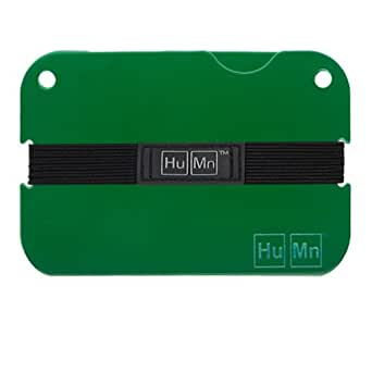 HuMn Mens Wallet Mini Forest Green-One Size