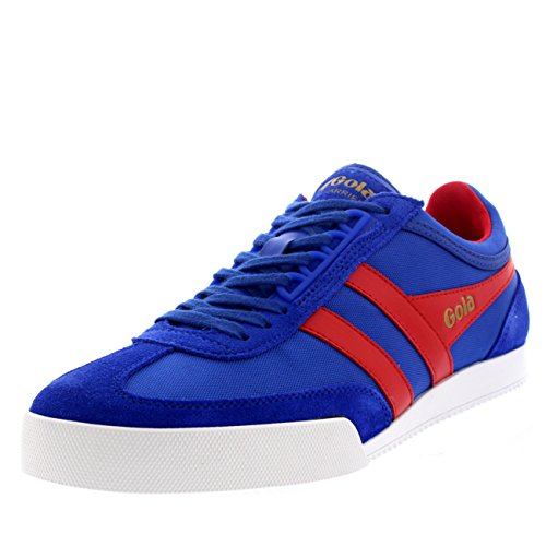 Womens Gola Harrier Suede Lace Up Sporty Active Fitness Retro Sneakers Blue/Coral GSQ2EfjtB