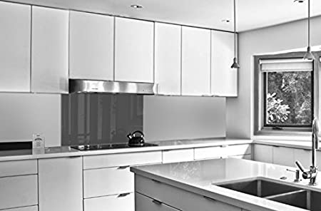 // Cristal de Protecci/ón salpicaduras en DIFERENTES MEDIDAS para frentes de cocinas 59,8cm x 49,6cm PANEL DE VIDRIO para cocina en COLOR GRIS 60x50