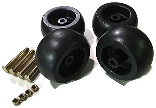 4 Pack Mower Deck Wheels Bolts Replacement for Cub Cadet RZT50 RZT54 LT1050 SLT1554 753-04856A (Cub Cadet Deck Wheels compare prices)