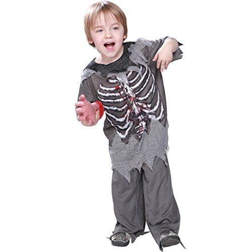 EraSpooky Skeleton Bloody Zombie Boy Costume Horror Halloween Kids Fancy Dress -