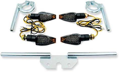 12V LED Mini Tuning Blinker abgedunkelt im Satz Blinkertr/äger f/ür Simson S50 S51 S70