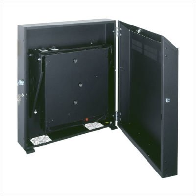 Middle Atlantic Low-Profile Wall Mount Cabinet Rack Spaces: 8U Spaces, Finish: Black Textured Powder Coat ()