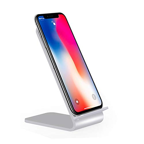 (for iPhone Xs/Xs Max/XR❤️MChoice❤️Aluminium Design 2-Coil Charging Station Wireless Charger Stand)