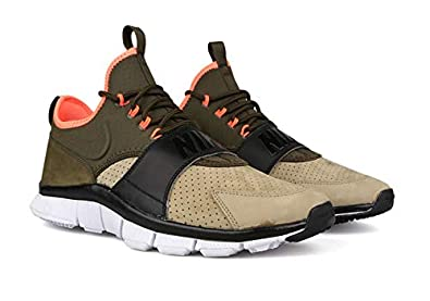 separation shoes 7903e 90522 Amazon.com   Nike Free Ace Leather Men s Running Training Shoes (8,  Bamboo Dark Loden Black Hyper Orange)   Running