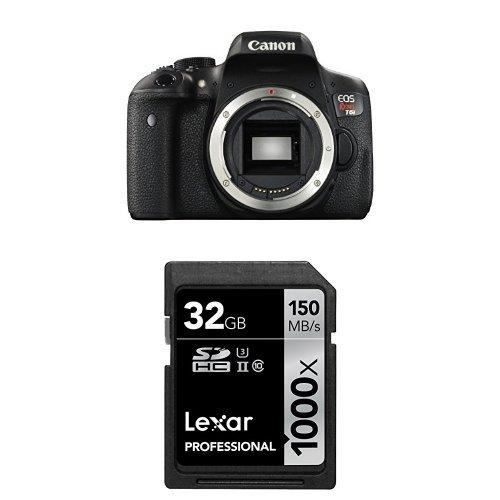 Canon EOS Rebel T6i Digital SLR Body + 32 GB Memory Card by Canon