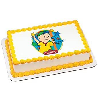 Caillou - Dinosaur Edible Icing Cake Topper Party Accessory