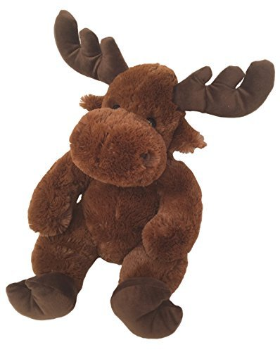(Wishpets Stuffed Animal - Soft Plush Toy for Kids - Sitting Moose, 14 Inches, Chestnut Brown)