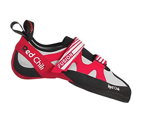 Red Chili Fusion VCR Climbing Shoes - Mens, Anthracite/Red, 11.5, 350591056030 ()