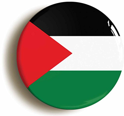 Palestine Button Pin (Size Is 1inch Diameter) Palestinian Flag