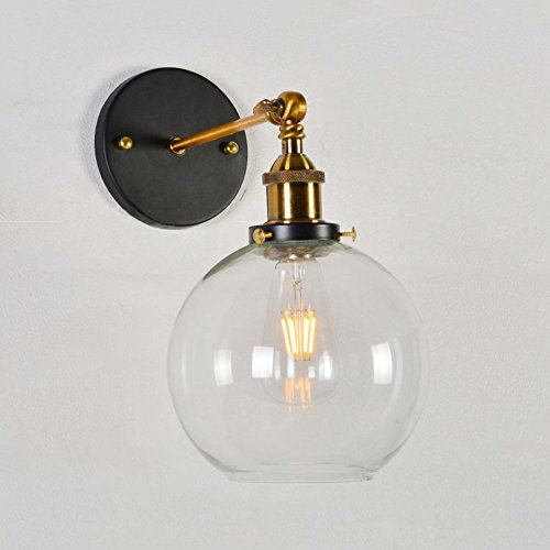 edison style lighting fixtures baycheer hl416426 vintage industrial edison style finish round glass ball shape wall lamp lighting fixture