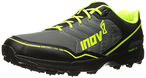 Inov-8 Arctic Claw 300 Trail Runner, Grey/Black/Neon Yellow, 8.5 E US