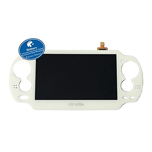 Rinbers® WHITE LCD Screen Display with Touch Panel Digitizer Assembly Replacement for Playstation PS Vita PSV 1000 1001 PCH-1001 PCH-1101 (Playstation One Lcd Screen)