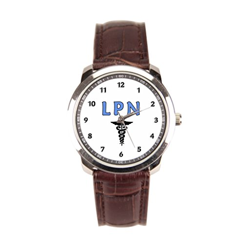 EleganceElegant Nurses Leather Banded Watches Brown Men'sLeatherWatch