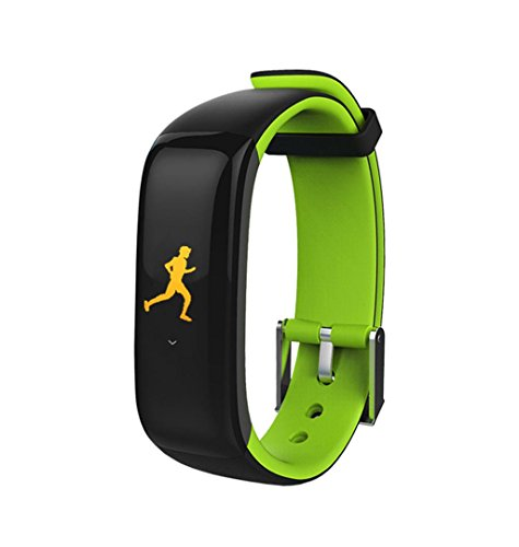Price comparison product image Boofab P1 Plus Smart Watch, BT Fitness Tracker Color Display Smart Bracelet Sports Watch Heart Rate Blood Pressure Monitor Activity Tracker for Android iOS SmartPhone (green)