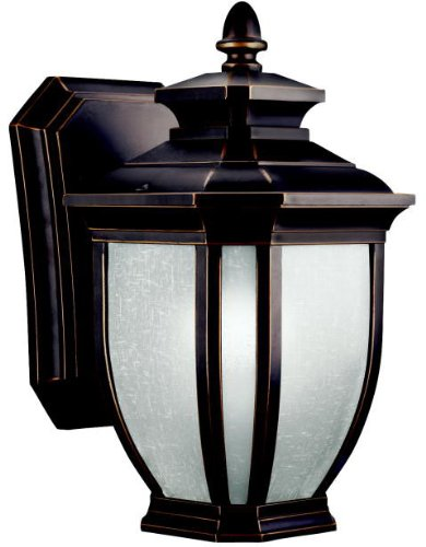 Kichler 11001RZ, Salisbury Aluminum Outdoor Wall Sconce Light, 13w Fluorescent, Rubbed Bronze