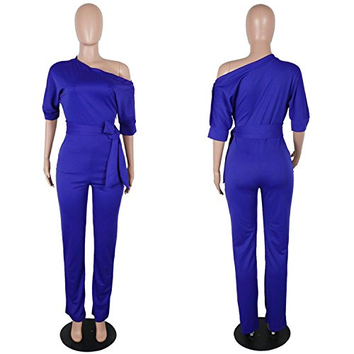 Shoulder Sashes Sexy Women Jumpsuit Romper Fashion Half Sleeve Pockets Rompers by Rainlife jumpsuits