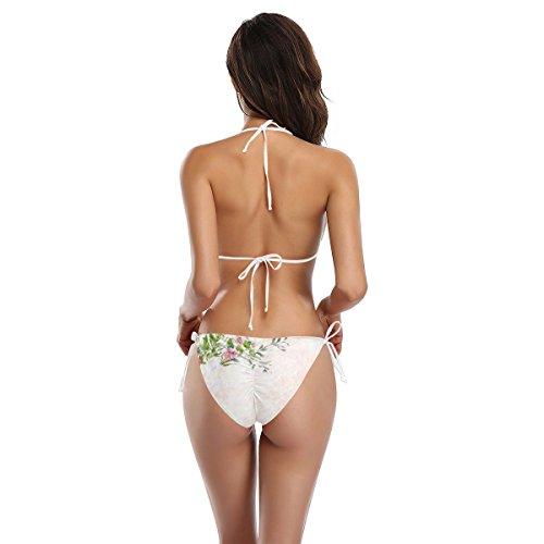 ador Mujer Piezas Flor Acuarela o Bikini Alaza Multicolor Dos Ba Primavera Ba SBqABRw