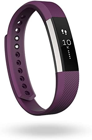 Fitbit Alta Fitness Tracker, Silver/Plum, Large (International Version)